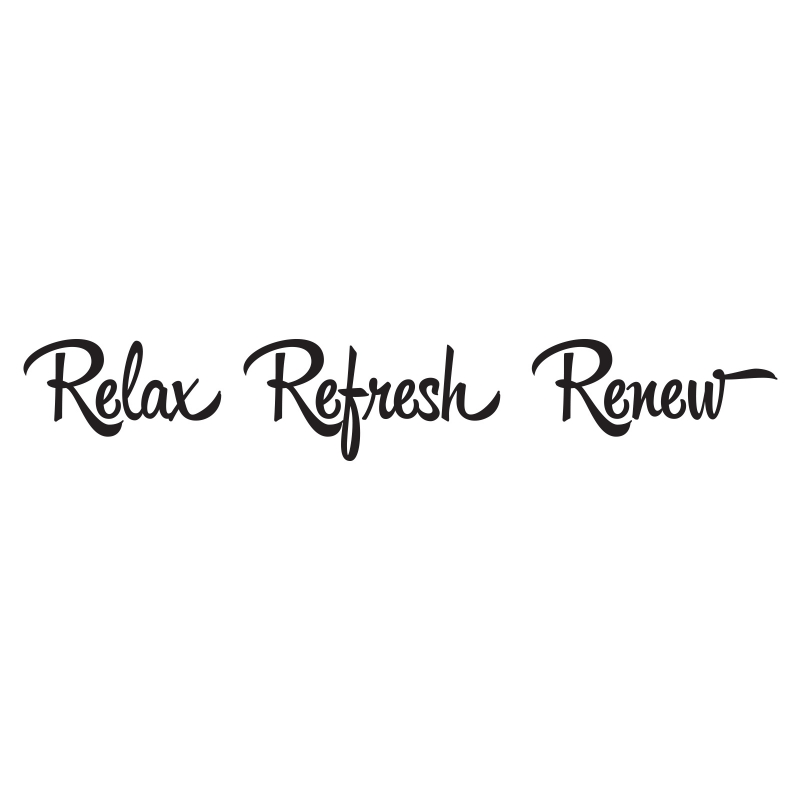RELAX REFRESH REVIVE RENEW QUOTE WALL DECAL VINYL STICKER BATHROOM - Wall decals relax
