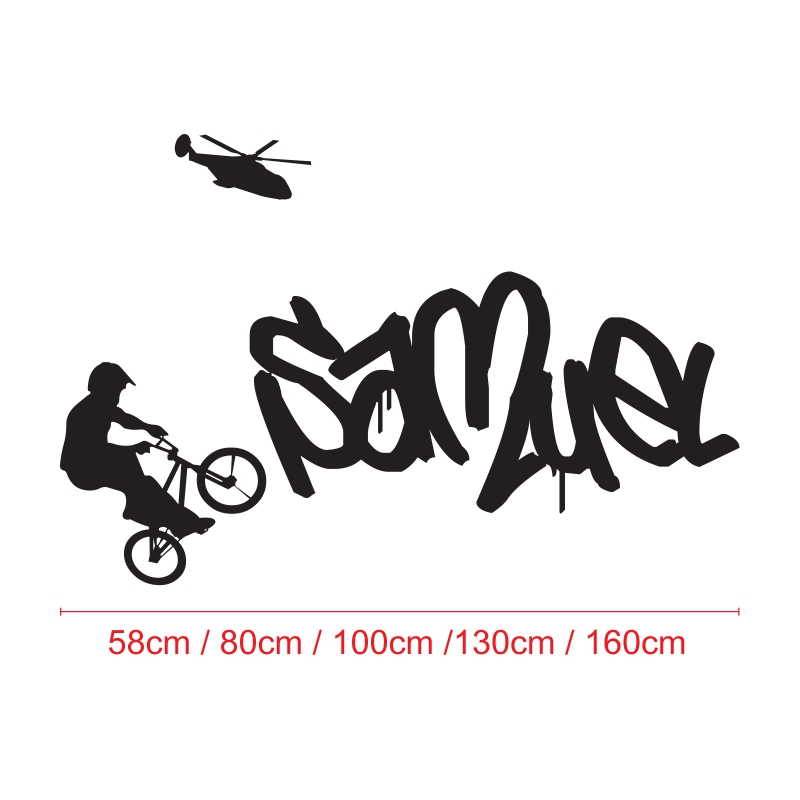 Personalised wall decals