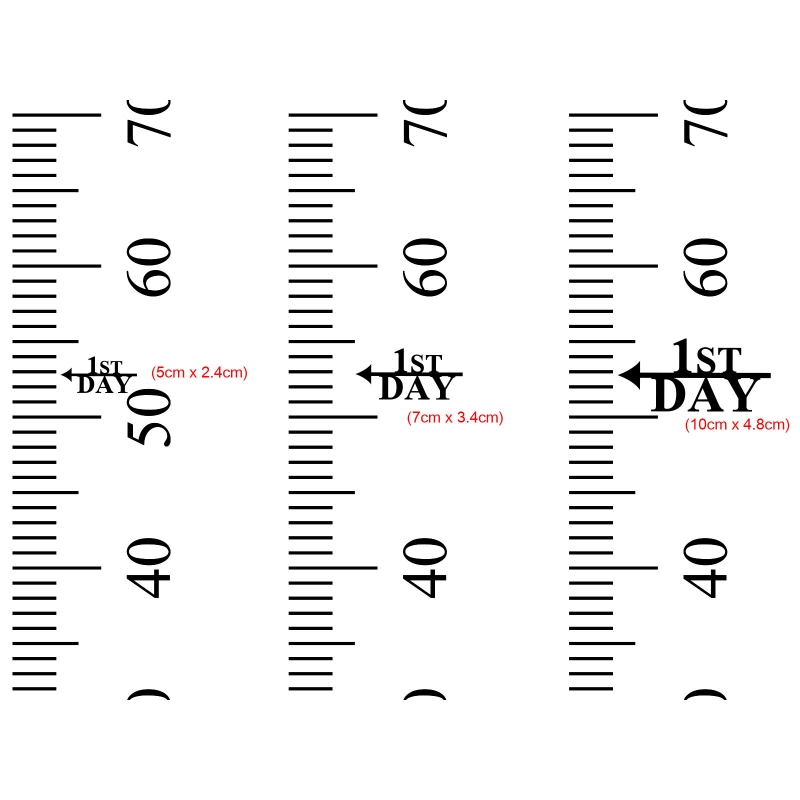 Height Markers First Day Growth Height Chart Ruler AddOn Custom - Ruler growth chart vinyl decal
