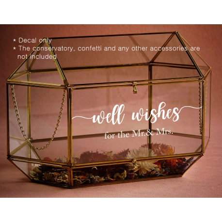 Well Wishes for the New Mr. & Mrs. Cards Wedding Wishing Well Sign Decal