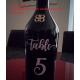 Wedding Table Number Decal Sticker for Bottle, Jar, Glass, Frame etc. Sold Each