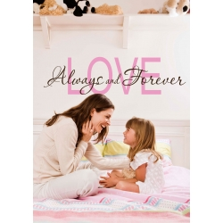 LOVE ALWAYS AND FOREVER QUOTE WALL VINYL DECAL BEDROOM LIVING ROOM KIDS ROOM