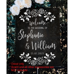 Welcome Wedding Sign Sticker Decal Engagement Anniversary Bridal Shower Birthday