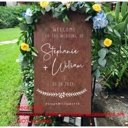 Welcome Wedding Sign Sticker Decal Engagement Bridal Shower Australian Gum tree