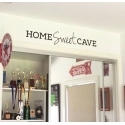 Home Sweet Cave Man Cave Wall Lettering Sign Decal Vinyl Sticker Removable