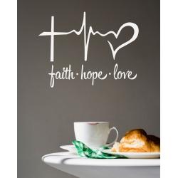 FAITH HOPE LOVE Sticker Decal Bible Christian Verse Car Window Wall Door