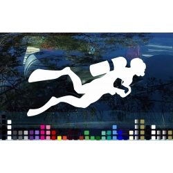 Scuba Diver Diving Decal Sticker Car Boat Laptop Mobile Window Wall Door