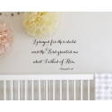 I prayed for this child Bible Decal Sticker Nursery Wall Door Decor