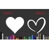 Heart Wall Window Shop Sticker 20cm~65cm