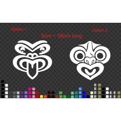 Maori Tiki Mask Sticker Decal New Zealand NZ Car Boat Window Wall Door Tattoo