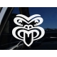 Maori Tattoo Mask Koruru Parata Ancestor Symbol Car Bumper Decal Vinyl Sticker