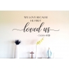 Love one another I have Loved you BIBLE CHRISTIAN QUOTE WALL VINYL DECAL