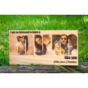 Custom Wooden Photo Block Special Gift Mum Mother's Father's Day Grandma Nana