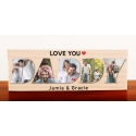 Dad Daddy Wooden Photo Block Father's Day Grandfather Grandpa Papa Pops Gift