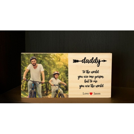 Custom Wooden Wood Photo Block Mother's Day Gift Best Mum Ever Direct Printing