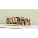 Grandpa Gift Wooden Photo Block Father's Mother's Day Papa Pops Birthday Gift