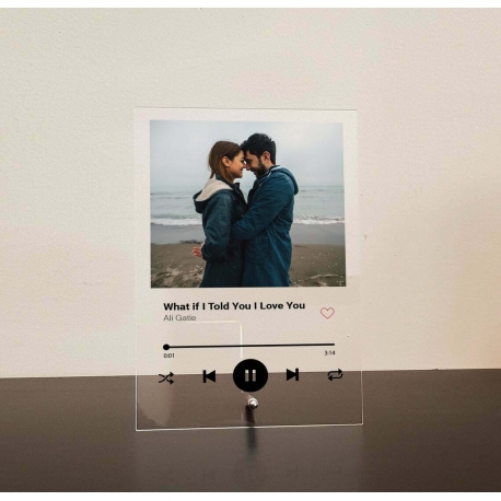 Custom Music Plaque Spotify Song Photo Couple, Anniversary Wedding Friend Gift