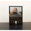 Custom Music Plaque Spotify Song Photo Couple, Anniversary Wedding Friend Gift Black Clear Frost Acrylic Wood
