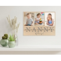 Grandma Wooden Photo Plaque, Photo collage on plywood