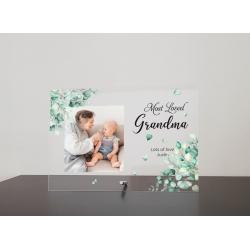 Grandma Photo Plaque Personalised gift Mum Nana Mothers day Keepsake Birthday