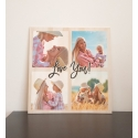 Photo Collage Wooden Plaque Personalised Gift Mothers day, Mum Dad Grandma Gift