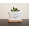 Personalised Planter Pot Love grows here Custom Message Wedding Anniversary Gift