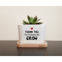 Personalised Planter Pot, Thanks for helping me grow, Custom Message Teacher's day, Parents Gift