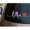 I Love Macaw Bird Parrot Sticker Decal Heart Car Laptop Outdoor