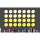 28 Rainbow Polka Wall Decal Nursery Stickers Watercolour Decor Fabric or Matt