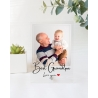 Fathers Day Photo Gift Best Grandpa Custom Photo Plaque Personal Message Gift