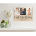 Fathers Day Photo Gift   POPY Wooden Photo Plaque Personalised Photo collage Grandpa Pops Papa Dad Daddy
