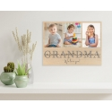 Grandma Wooden Photo Plaque Personalised Gift for Mothers day Mum Mummy Grandmother Nanny Nana Nan Photo collage on plywood