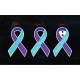 Suicide Awareness Ribbon Decal Sticker Car Window Bike Laptop Wall Door
