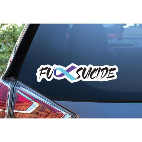 Fck Suicide Sticker Fuck Ribbon Decal Awareness Survivor Hope Car Laptop
