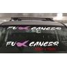 Fck Cancer Fight Decal Sticker Car Windscreen Banner