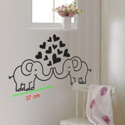 ELEPHANT IN LOVE WALL DECAL VINYL STICKER