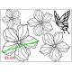 HOLOGRAM BLOOM BUTTERFLY WALL DECAL VINYL STICKER FLOWER