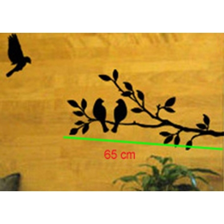 BIRDS AND TREE WALL VINYL DECAL
