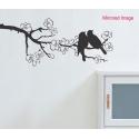 Couple Birds on sakura tree WALL VINYL DECAL STICKER