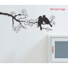 COUPLE BIRDS IN LOVE ON BRANCH TREE WALL POINT WALL VINYL DECAL STICKER