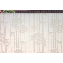 92CM x 1.3M Bamboo White Rice Oriental FROSTED WINDOW PRIVACY FILM