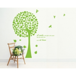Circle TREE BIRD Feature WALL DECAL Vinyl Sticker