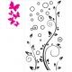 BUBBLE FLOWER WALL DECAL VINYL STICKER
