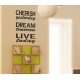 CHERISH YESTERDAY DREAM TOMORROW LIVE TODAY QUOTE WALL DECAL VINYL STICKER