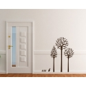 THREE TREES AND DUCK FAMILY WALL DECAL VINYL STICKER NURSERY