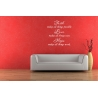 FAITH MAKES ALL THINGS POSSIBLE LOVE EASY HOPE WORK QUOTE WALL VINYL DECAL