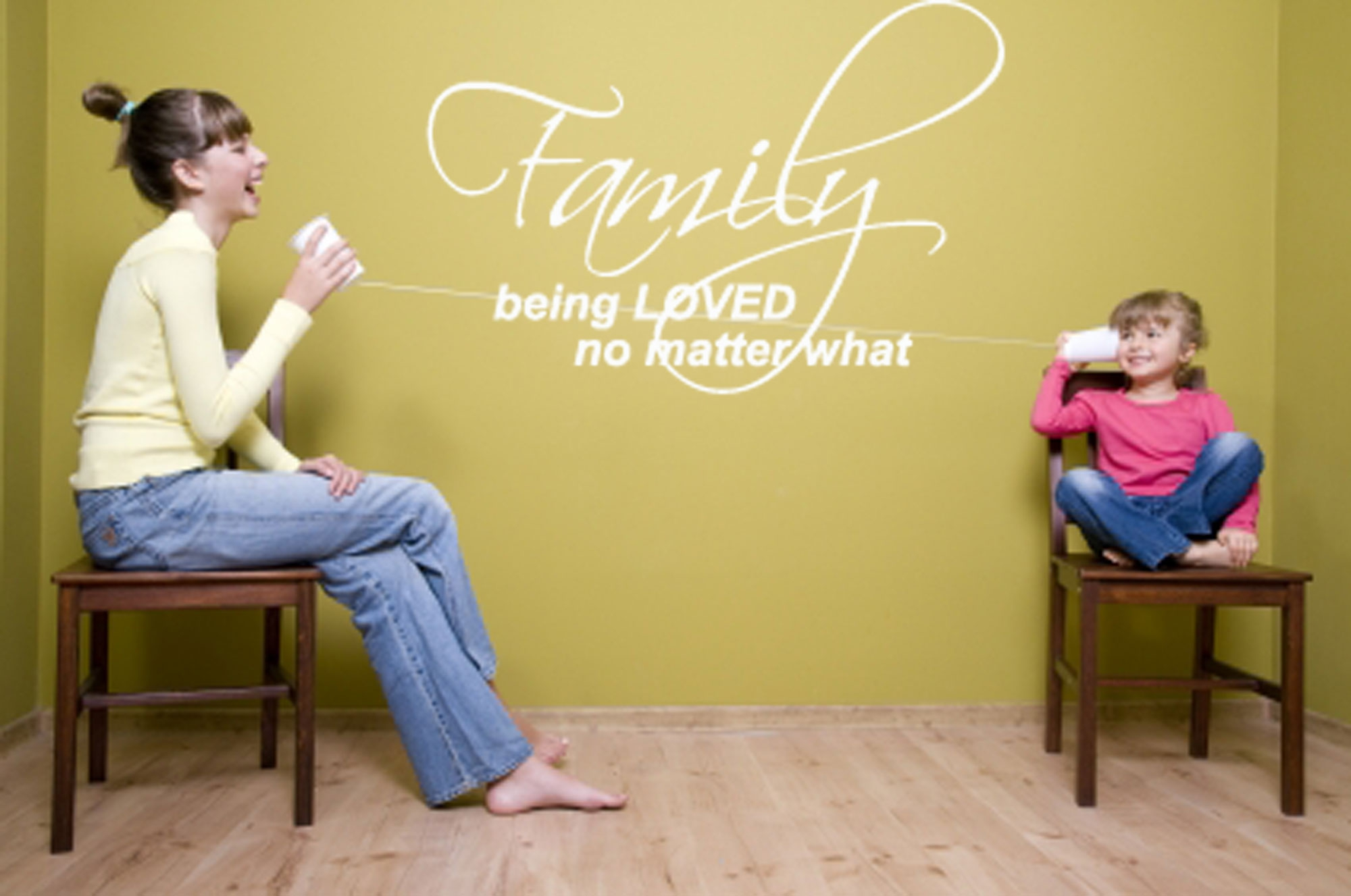FAMILY BEING LOVED NO MATTER WHAT WALL LIVING ROOM DECAL STICKER ...