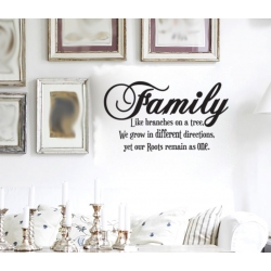 FAMILY LIKE BRANCHES ON A TREE PHOTO GALLERY WALL VINYL DECAL STICKER