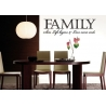 FAMILY WHERE LIFE BEGINS & LOVE NEVER ENDS WALL VINYL DECAL STICKER