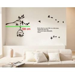 BIRD & TREE NEST WALL DECAL VINYL STICKER